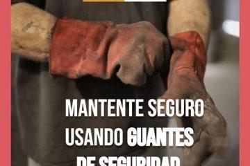 uso de guantes en la construcción